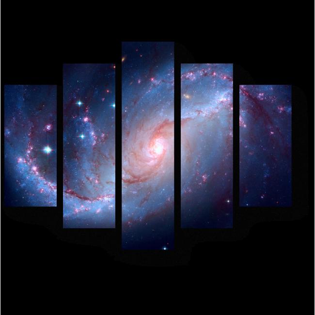 Модульная картина Спираль галактик