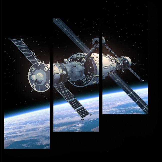 Модульная картина На орбите Земли