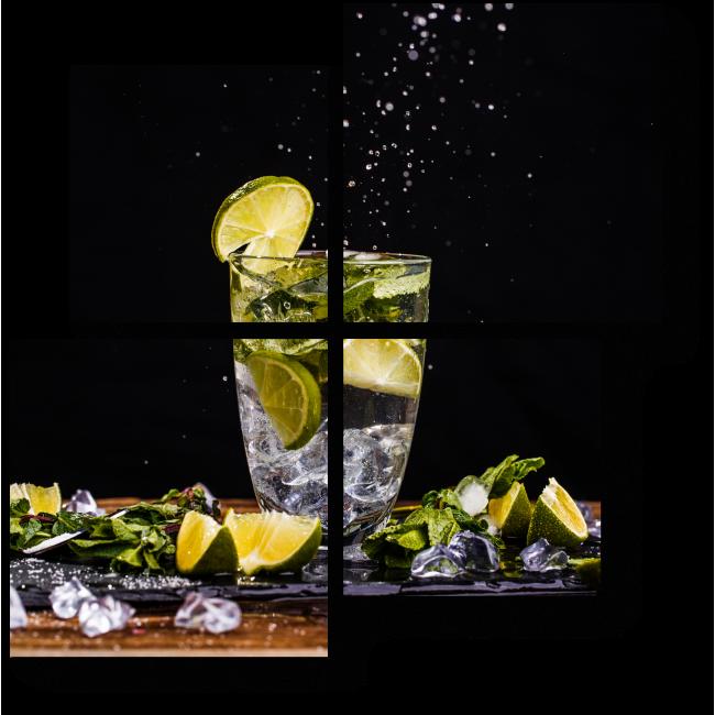 Модульная картина Мятно-лимонная прохлада