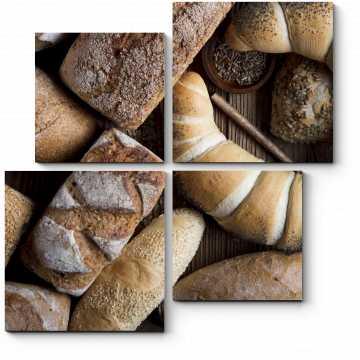 Модульная картина Хлебный рай с корочкой