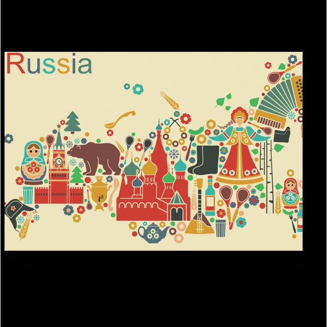 Модульная картина Россия глазами иностранцев