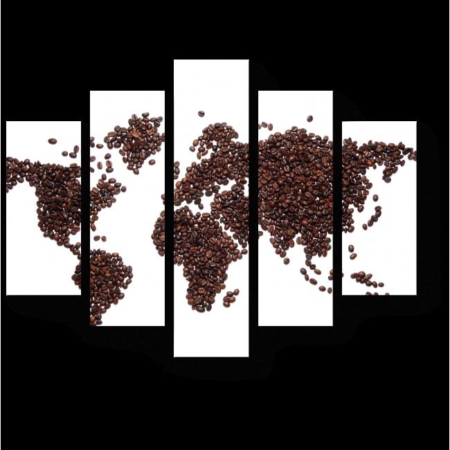 Модульная картина Кофейная карта