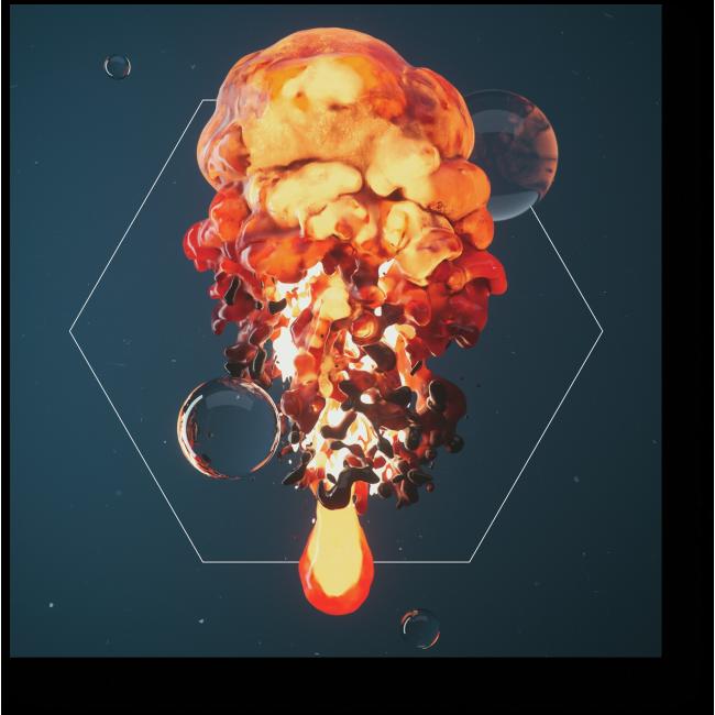 Модульная картина Яркий взрыв