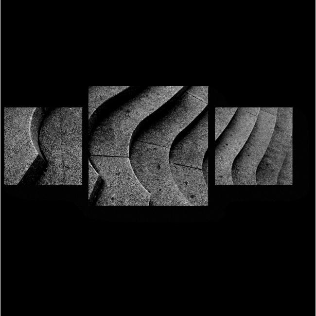 Модульная картина Черно-белые ступени