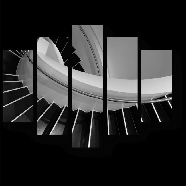 Модульная картина Спиральная лестница в стиле минимализм