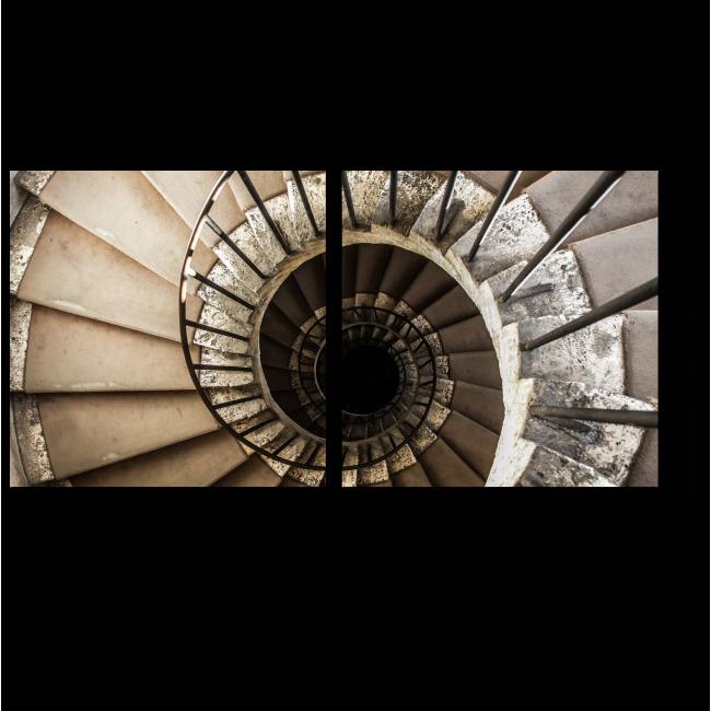 Модульная картина Винтовая лестница