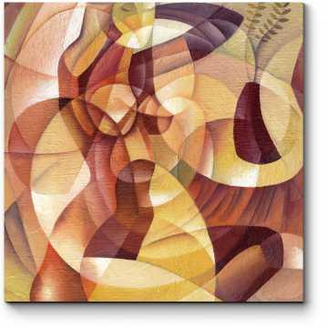 Модульная картина Силуэт прекрасной дамы
