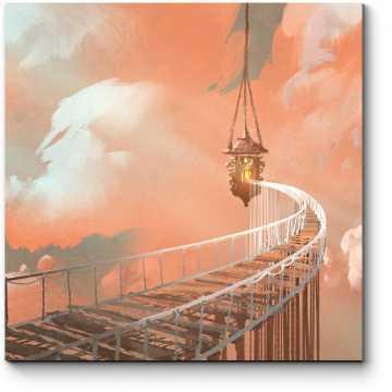 Модульная картина Мост в бесконечность