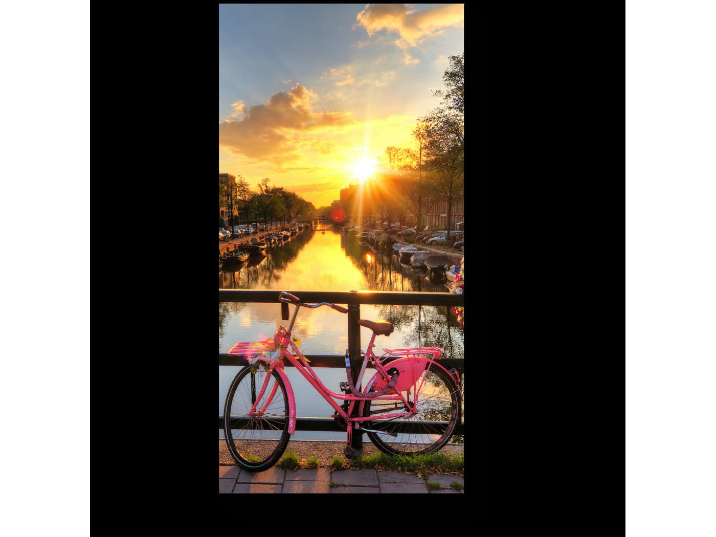 Модульная картина Прекрасный закат в Амстердаме (20x40) фото