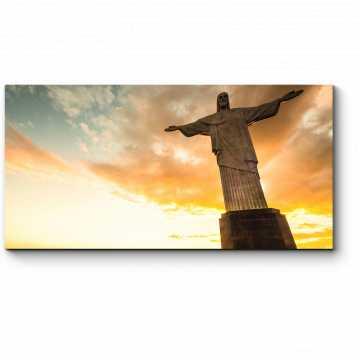 Модульная картина Изумительный закат в Рио-де-Жанейро