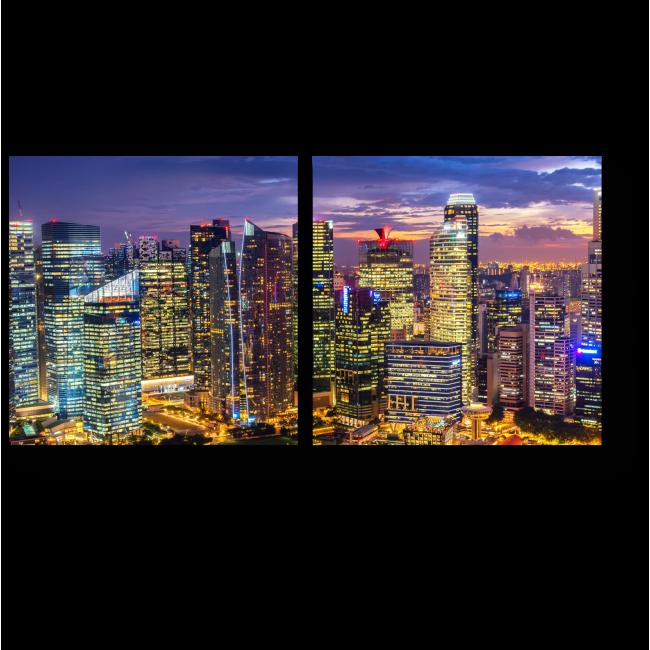 Модульная картина Чудесный закат в сердце Сингапура