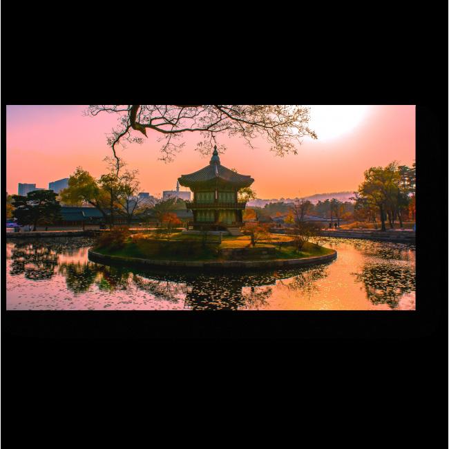Модульная картина Чарующий закат по-корейски, Сеул
