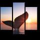 Силуэт кита на закате
