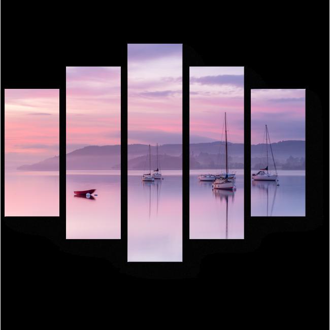 Модульная картина Пастельный закат