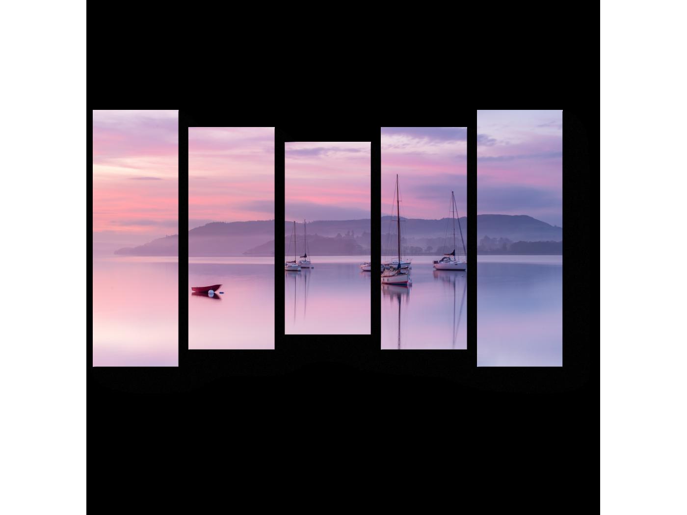 Модульная картина Пастельный закат (90x54) фото