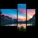 Красочный закат над озером Святой Марии