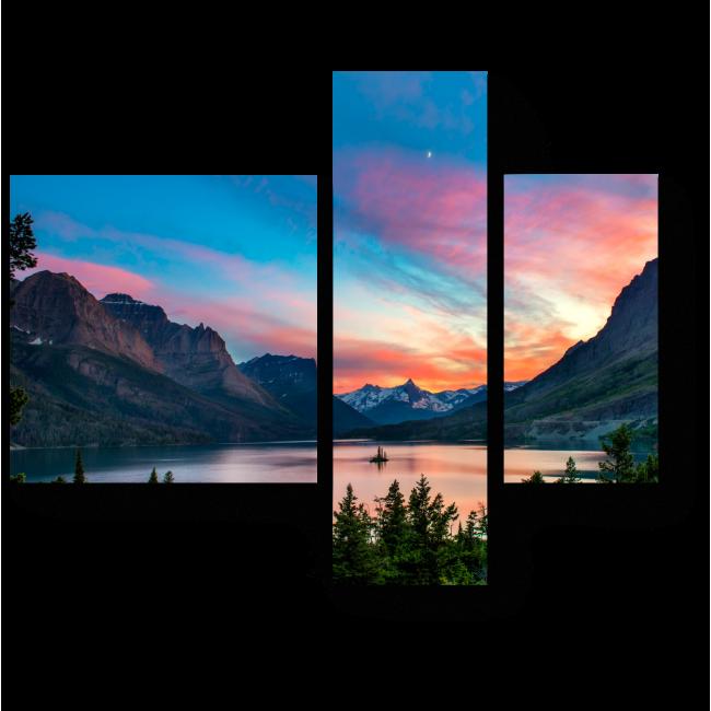 Модульная картина Красочный закат над озером Святой Марии