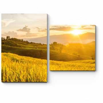 Закат над полями