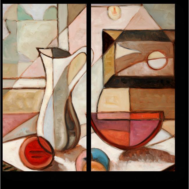 Модульная картина Натюрморт с кувшином и фруктами
