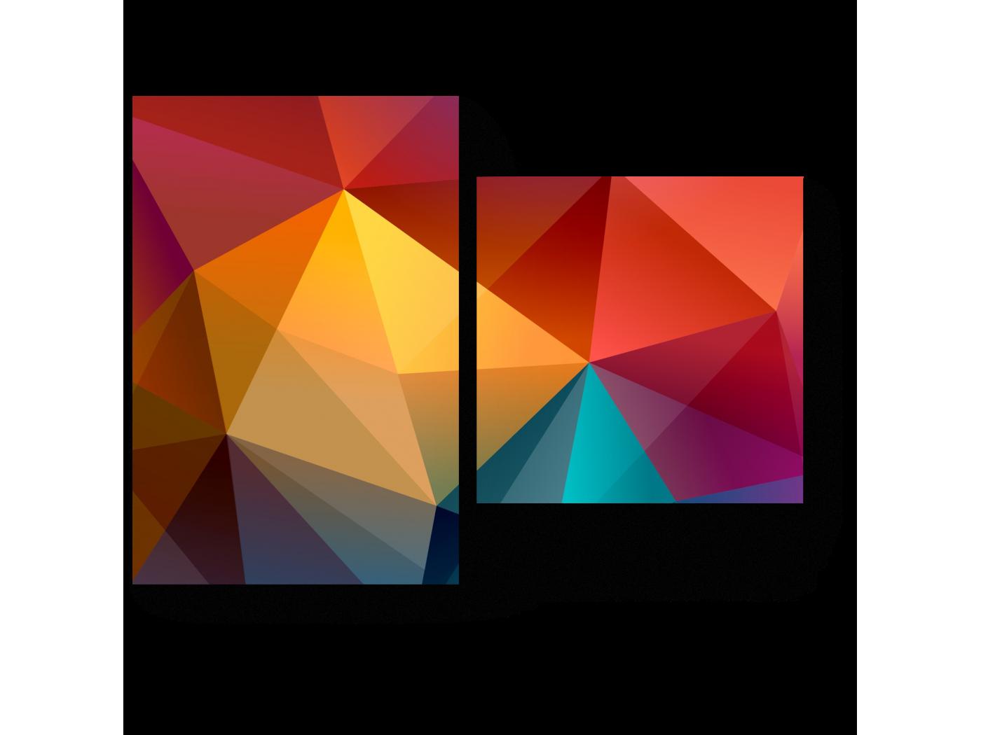 Модульная картина Геометрическая радуга (40x30) фото