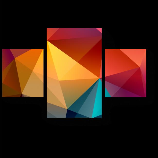Модульная картина Геометрическая радуга
