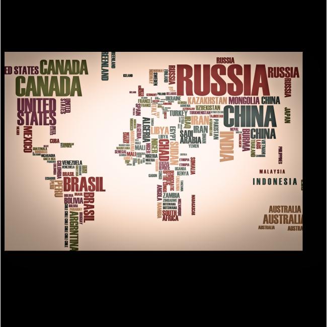 Модульная картина Мир в именах