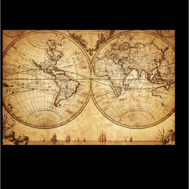 Модульная картина История в картах