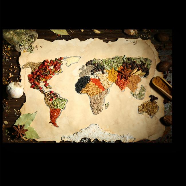 Модульная картина Пряная карта