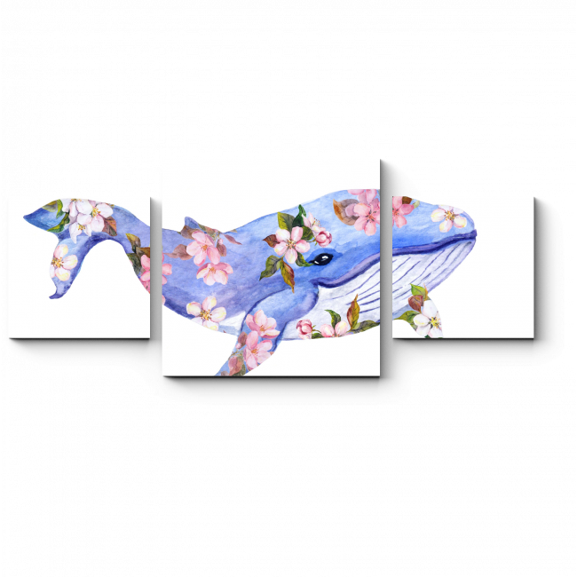 Модульная картина Весенний кит