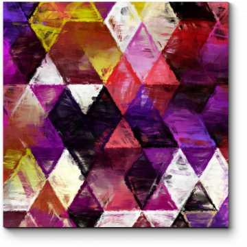 Модульная картина Треугольники