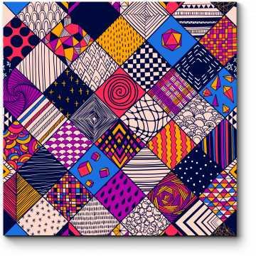 Модульная картина Лоскутное одеяло