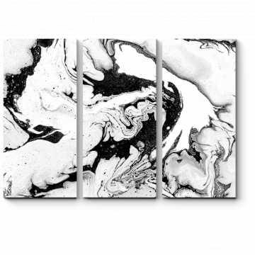 Модульная картина Черно-белое море