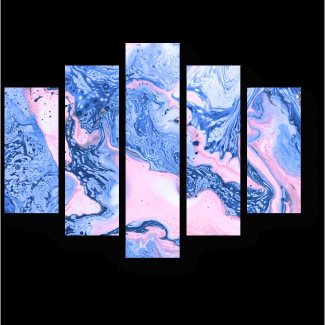Модульная картина Закат над лазурным морем