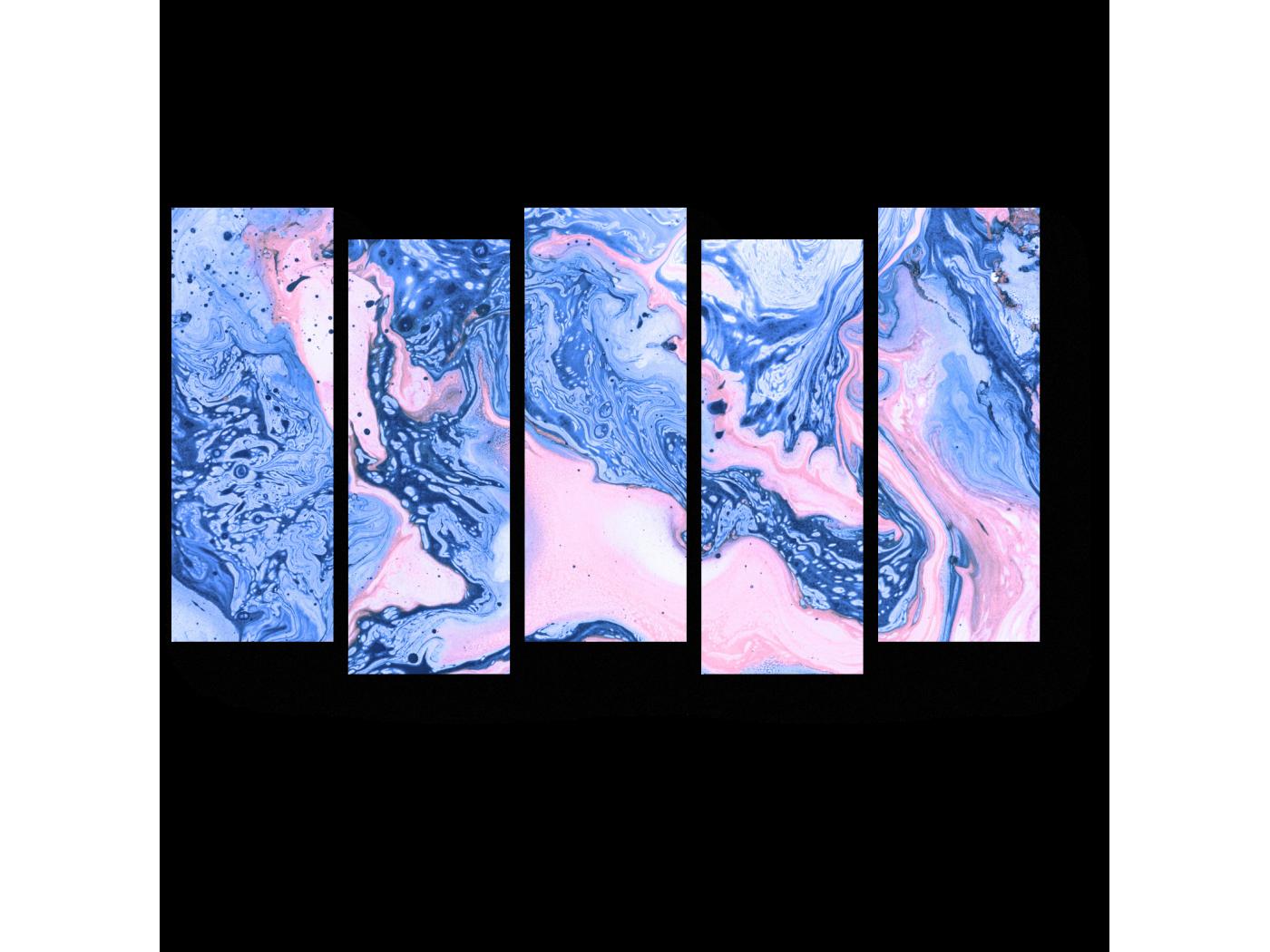 Модульная картина Закат над лазурным морем (90x52) фото