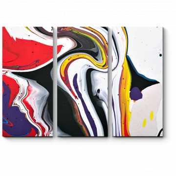 Модульная картина Разноцветная зебра