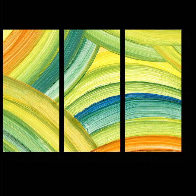 Модульная картина Абстрактная радуга