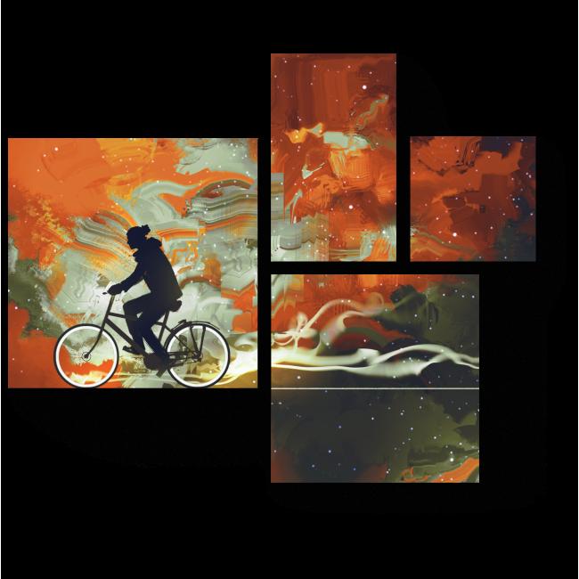 Модульная картина Сквозь пространство и время