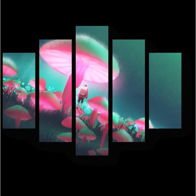 Модульная картина Мир грибов