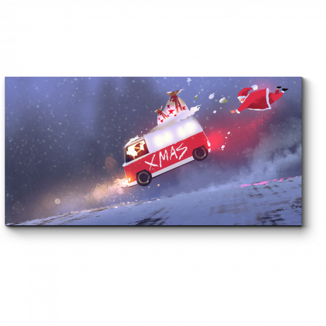 Модульная картина Рождественский переполох