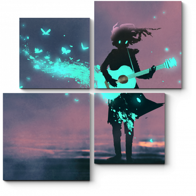 Модульная картина Волшебная гитара