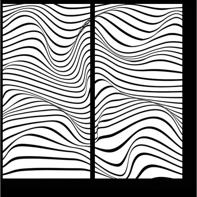 Модульная картина Объемные волны