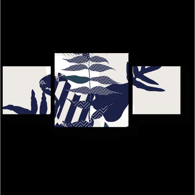 Модульная картина Геометрия флоры