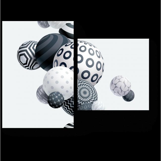Модульная картина 3D шары
