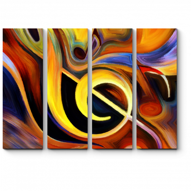 Модульная картина Линии музыки