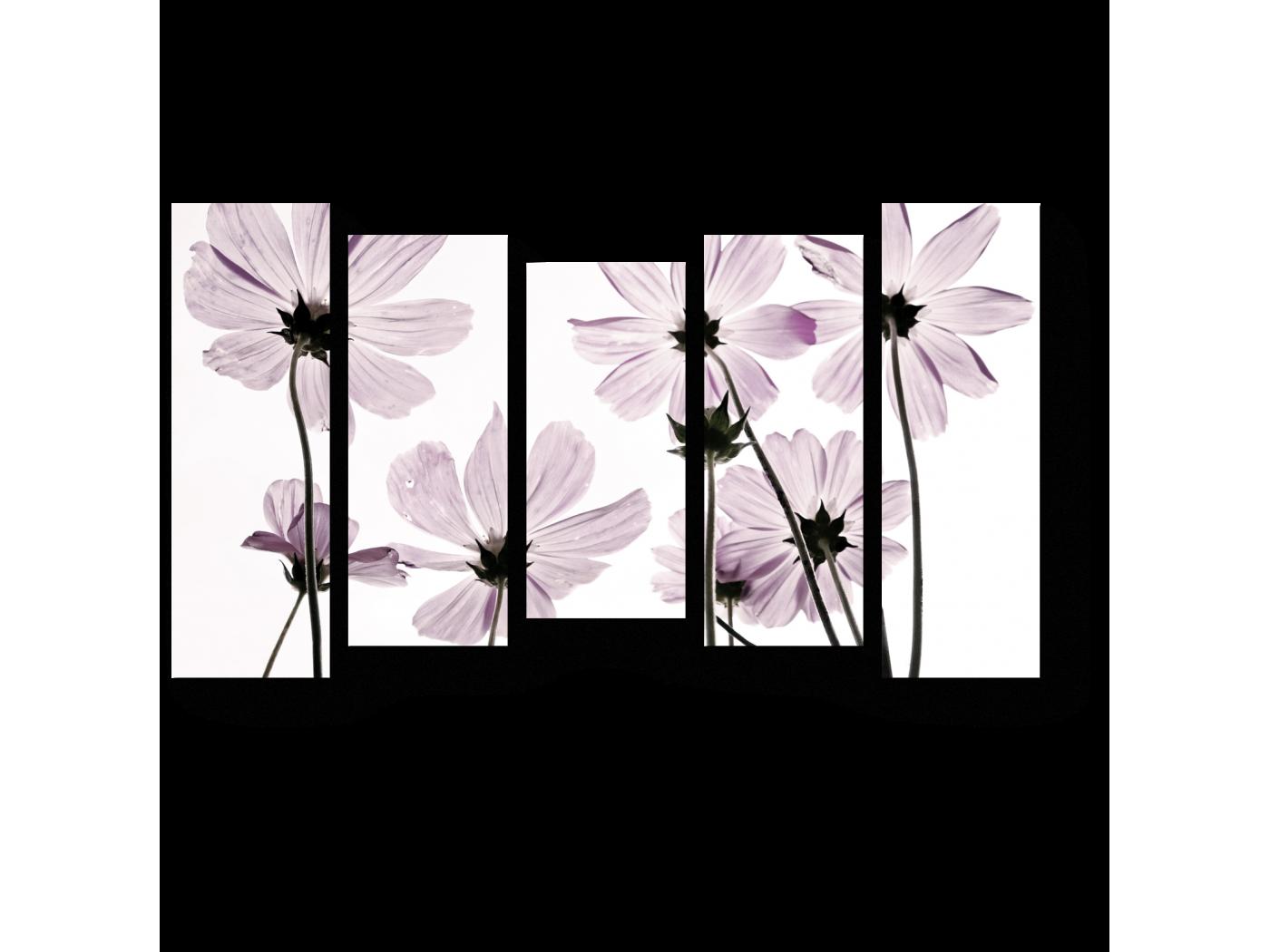 Картинка цветка из трех частей