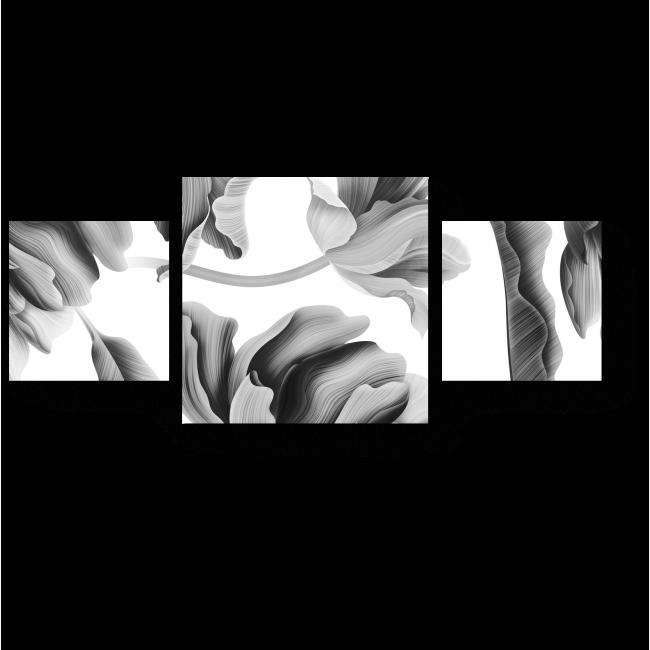 Модульная картина Цветы жарких тропиков