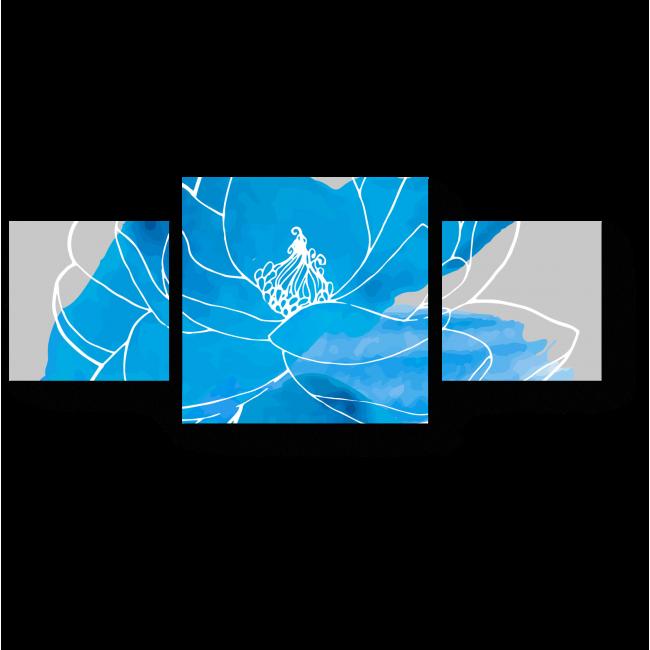 Модульная картина Силуэт лотоса
