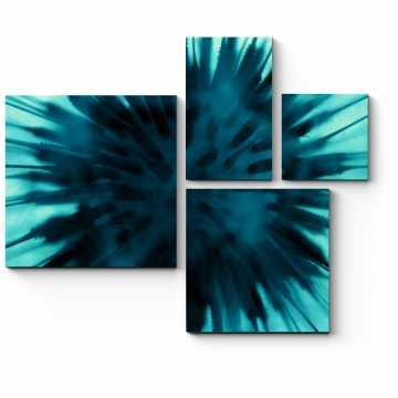 Модульная картина Соцветие одуванчика