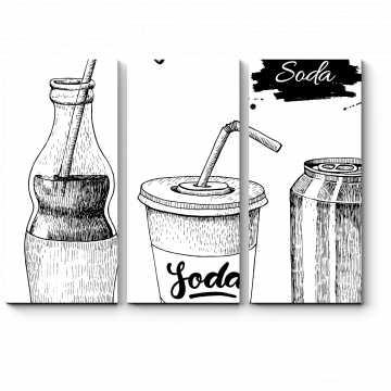 Модульная картина Чёрно-белый скетч