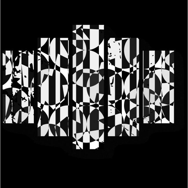 Модульная картина Двухцветная геометрия